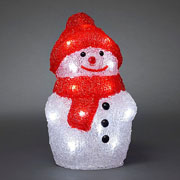 Acrylic LED Snowman with Cap