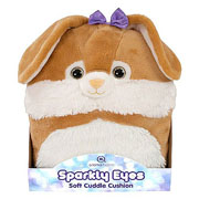 Aroma Home Rabbit Sparkly Eyes Snuggle Cushion