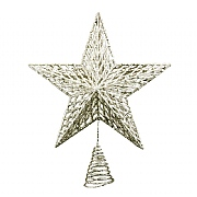 Gisela Graham Large Gold Glitter Moulded Tree Top Star 35cm