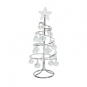Gisela Graham Silver Coil Wire Mini Tree with Crystals
