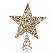 Gisela Graham Gold Glitter Moulded Tree Top Star