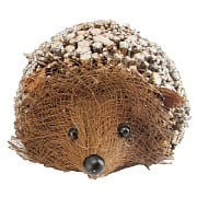 Gisela Graham Small Twig Hedgehog Ornament with Glitter