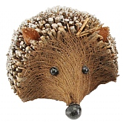Gisela Graham Large Twig Hedgehog Ornament with Glitter