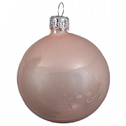 Blush Pink Enamel Bauble - 8cm