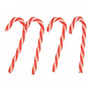 Red & White Candy Canes 15cm - 4 Pack