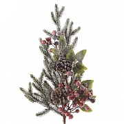 Decorated Berries and Snow Spray with Pinecones 50cm