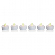 6 x Flickering LED Tea Lights