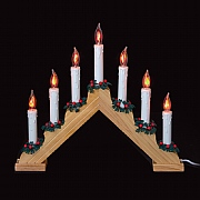 Pine Wood 7 Light Flickering Candlebridge