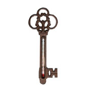 Cast Iron Key Garden Thermometer