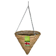 "Gardman 14"" Two Tone Rope Cone Hanging Basket"