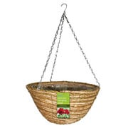"Gardman 14"" Two Tone Rope Round Hanging Basket"
