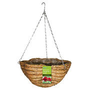 "Gardman 14"" Two Tone Rope Scalloped Hanging Basket"