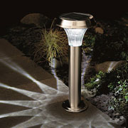 Solar Stainless Steel Post Light