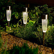 Fluted Solar Stake Light