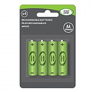 Smart Solar AA Rechargeable Batteries - 4 Pack