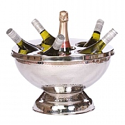 Epicurean 6 Bottle Wine / Champagne Cooler Hammered Stainless Steel