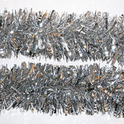 Silver Facetted Tinsel 75mm x 2m