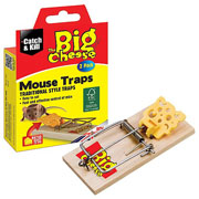 The Big Cheese Baited Ready to Use Mouse Traps Twinpack