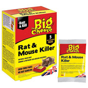 The Big Cheese Rat & Mouse Killer Bait Packs (5 x 40g)