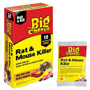 The Big Cheese Rat & Mouse Killer Bait Packs (10 x 40g)