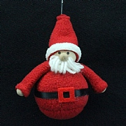 Gisela Graham Felt Santa Hanging Decoration 9cm