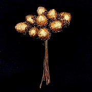Copper Glitter Acorn Pick Bunch 11cm