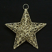 Gisela Graham Gold Wire Mesh Star 15cm