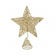 Gisela Graham Gold Glitter Wire Mesh Tree Top Star