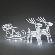 Acrylic LED Reindeers & Sledge