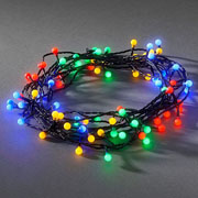 80 Multi Colour LED Cherry Lights