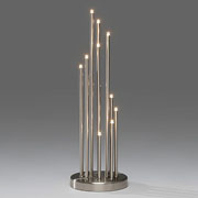 Contemporary Silver Spiral Welcome Light