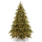 7.5ft Pre-Lit Weeping Spruce Feel-Real Artificial Christmas Tree