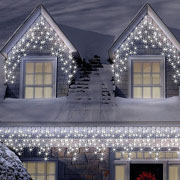 300 Ice White LED Connectable Icicle Lights