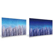 Christmas Village Double Sided Forest Background Display Poster 59 x 39cm