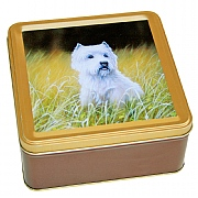 Embossed Westie Biscuit Tin 300g