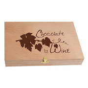 Wooden Box of 45 Chocolates for Wine