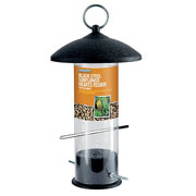 Large Black Steel Sunflower Heart Feeder