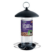 Black Steel Suet Treat and Mealworm Feeder