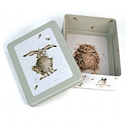 Wrendale Hare, Duck & Owl Rectangular Tin