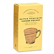 Cartwright & Butler Butter Thins with Candied Orange 75g