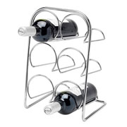Pisa 6 Bottle Chrome Wine Rack