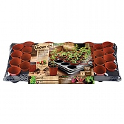 Gardman 40 Pot Growing Tray With Round Pots