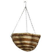 "Gardman 14"" Two Tone Fern Scalloped Hanging Basket"