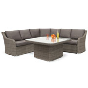 Kettler Madrid Corner Casual Dining Set Rattan