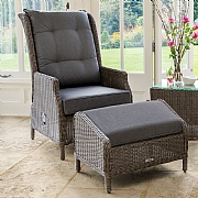 Kettler Palma Classic Recliner with Footstool Rattan
