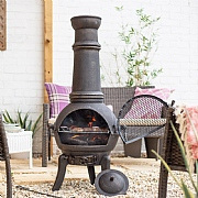 Sierra Extra Large Metal Chimenea