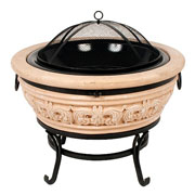 Carved Scroll Firebowl