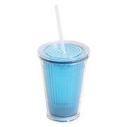 Blue Tumbler with Waterproof Lid