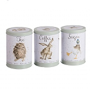 Wrendale Tea, Coffee & Sugar Canister Set
