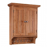 Besp-Oak Evelyn Oak Wall Cabinet With Hooks